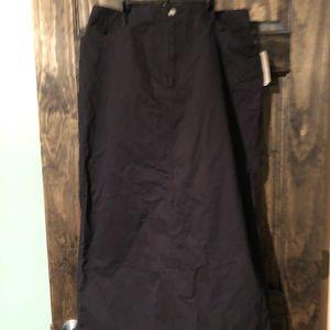 Dresses & Skirts - Size 14 women's long black khaki straight skirt